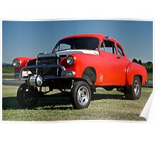 1951 Chevy 'Gasser' Drag Car Poster