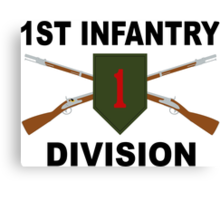 1st Infantry Division - Crossed Rifles Canvas Print