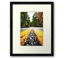 road on autumn Framed Print