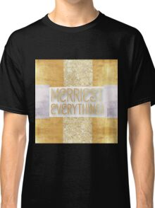 modern,christmas,merry christmas,merriest everything, typography,cool text Classic T-Shirt