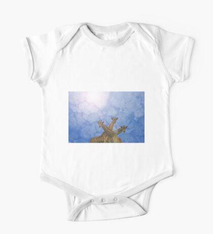 Giraffe Background - African Wildlife Splendor - Blue Wonder and Colors in Nature One Piece - Short Sleeve