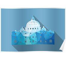 World landmark, St Peter's Basilica, Rome, Vatican Poster