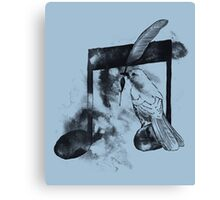 Music Painter - Blue Canvas Print