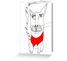 Magoo in Red Greeting Card