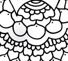 zentangle w: black/white Sticker
