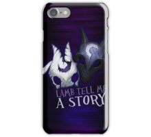 Lamb tell me a story Kindred iPhone Case/Skin