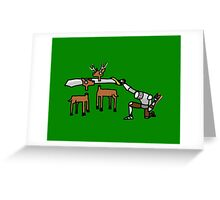 Epic Hunting - Green Greeting Card