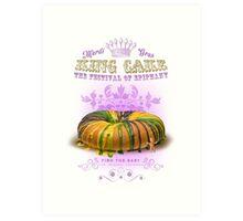 Mardi Gras King Cake Art Print