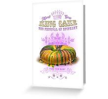 Mardi Gras King Cake Greeting Card
