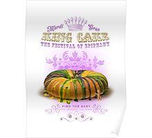 Mardi Gras King Cake Poster