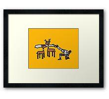 Epic Hunting - Gold Framed Print