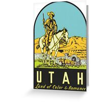 Utah UT State Vintage Travel Decal Greeting Card