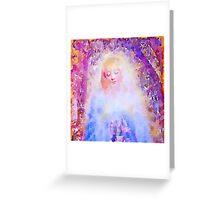 water color,hand painted, angel,girl,God,angels,faith,spiritual,guarding angel, modern,beautiful,art Greeting Card