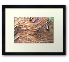 Wood Wrinkles Framed Print