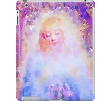 water color,hand painted, angel,girl,God,angels,faith,spiritual,guarding angel, modern,beautiful,art iPad Case/Skin
