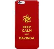 Keep calm and Bazinga iPhone Case/Skin