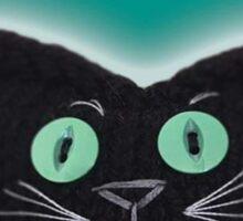 Knitty Cat Black Cat Sticker