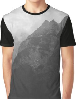 Black and White Mountains Graphic T-Shirt