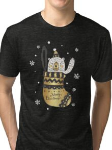 Cute And Funny Christmas elements Tri-blend T-Shirt