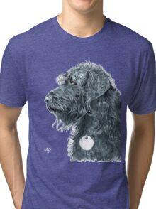Black Labradoodle Tri-blend T-Shirt