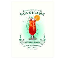 New Orleans Hurricane Cocktail Art Print