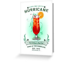 New Orleans Hurricane Cocktail Greeting Card