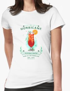 New Orleans Hurricane Cocktail Womens Fitted T-Shirt