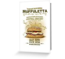 Muffuletta Sandwich Greeting Card
