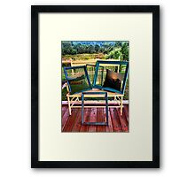 FRAMES & BONITA'S REDBUBBLE PILLOWS WITH A VIEW PICTURE AND OR CARD Framed Print