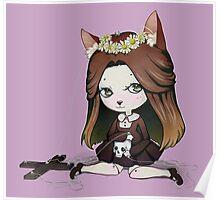 Cat Puppet - Creepy but cute Poster