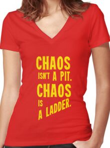 Game of Thrones Baelish Chaos Isn't a Pit Chaos is a Ladder Women's Fitted V-Neck T-Shirt