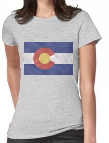 Fractal Colorado  Womens Fitted T-Shirt