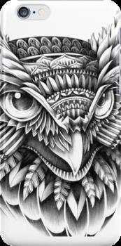 Ornate Owl Head by BioWorkZ
