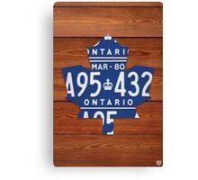 Toronto Maple Leafs Industrial License Plate Art - Cherry Canvas Print