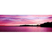 Pink Magenta Sunset.Seascape Photographic Print