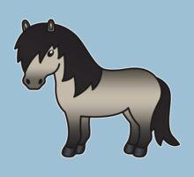 Grullo Shetland Pony Cartoon Illustration by destei