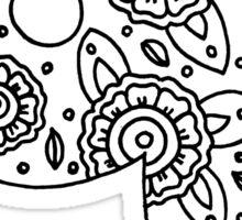 zentangle q: black/white Sticker