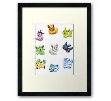 Teenies - Shiny Eeveelutions! Framed Print