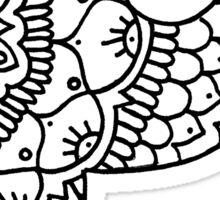 zentangle p: black/white Sticker