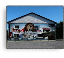 Hockey History Don Cherry Building Mural Canvas Print