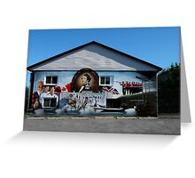 Hockey History Don Cherry Building Mural Greeting Card