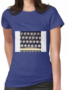 Typewriter Keys Womens Fitted T-Shirt