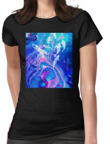 Oil Slick Sea Womens Fitted T-Shirt