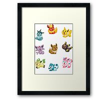Teenies - Eeveelutions! Framed Print