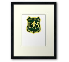 US Forest Service Bigfoot  Framed Print