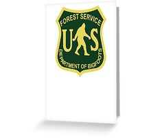 US Forest Service Bigfoot  Greeting Card