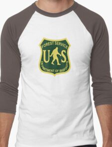 US Forest Service Bigfoot  Men's Baseball ¾ T-Shirt