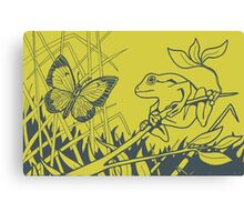 Frog Meets Butterfly Canvas Print
