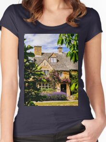 Framed by nature. Women's Fitted Scoop T-Shirt