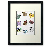 Teenies - Costumed Eeveelutions! Framed Print